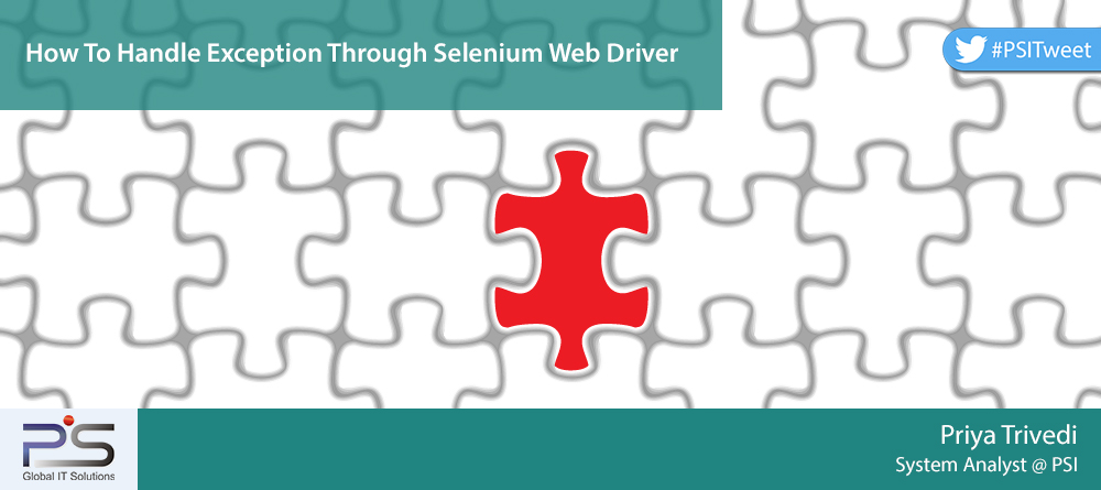 How To Handle Exception Through Selenium Web Driver - Pratham Software™
